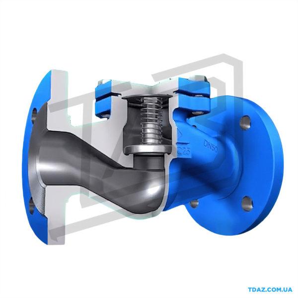 Клапан зворотний сталевий фланцевий 16с10нж, 16с10п РУ25