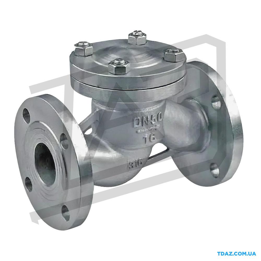 Клапан обратный подъёмный стальной фланцевый 16с10нж, 16с10п Ру25