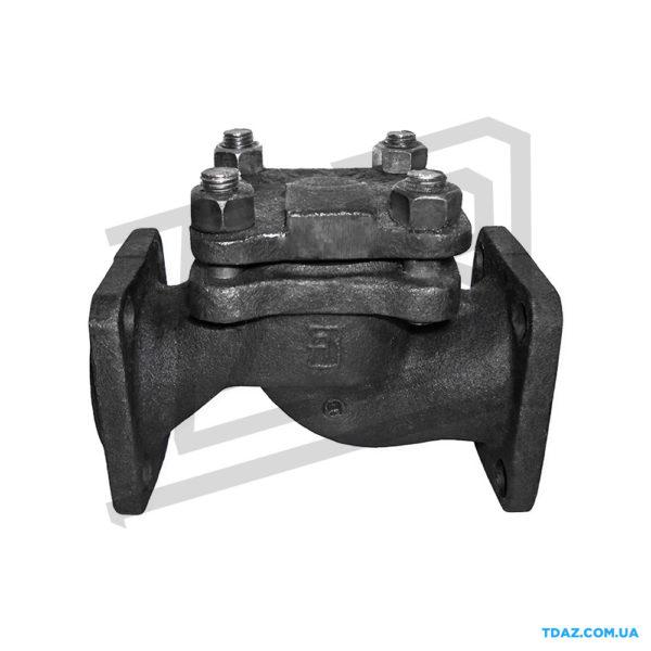 Клапан обратный чугунный фланцевый 16кч9п (16кч9нж) Ру25
