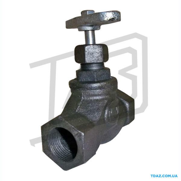 Клапан запорный чугунный муфтовый 15кч18п (15кч33п) РУ16