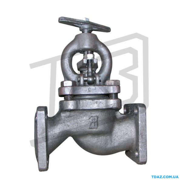 Клапан запорный чугунный фланцевый 15кч16п1(15кч16нж) РУ25