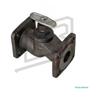 Клапан запорный проходной фланцевый из чугуна 15кч19п (15кч34п)