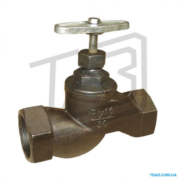 Клапан запорный чугунный муфтовый 15кч18п (15кч33п, 15ч8п)